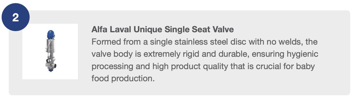 Alfa Laval Unique Single Seat Valve